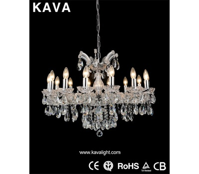 Pendant Lights-Internet Discount- New product 14 lampholders Pendant Lights with Clear Glass and Crystal