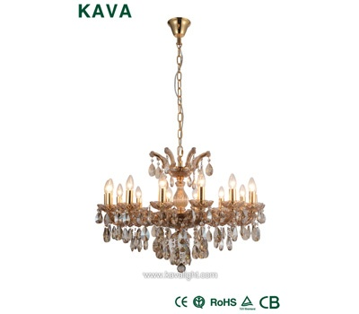 Pendant Lights-crystal chandelier Iron New Design  Pendant Lights with Cognac Glass and Crystal