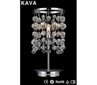 Desk & Table Lamps-wedding decoration modern crystal Table Lamps with Glass
