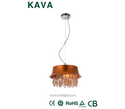 Pendant Lights-Traditional gold crystal CE CB  ROHS chandeliers Pendant Lights with Oygenated Bronze
