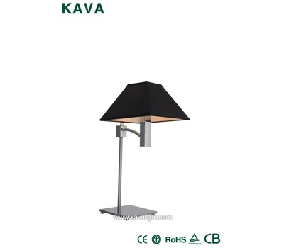 Desk & Table Lamps-Desk & Table Lamp- 2014 modern black  fabric table lamp home with Chrome
