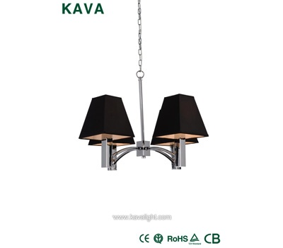 Pendant Lights-Good Quality Black Shade Chrome Pendant Lights with Chrome