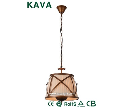 Pendant Lights-Antique Style Pendant Lights with Brown Brush Gold