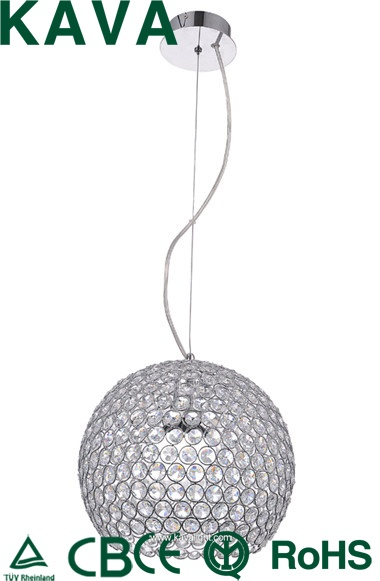 New Products-Pendant lights -2015hot sales ball crystal Pendant lights with  Clear Glass and  crystal