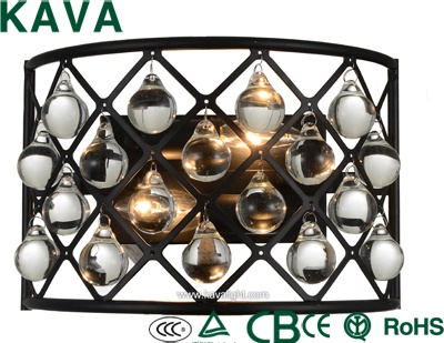 New Products-Pendant lights - Hot sale classic E14  glass wall lamp,small wall lamp  with  crystal iron